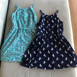 (2) Girl's Gap summer dresses, size 6/7